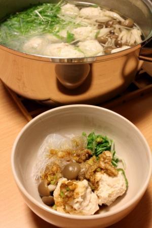 12.03.28鶏団子のお鍋