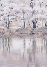 堂本元次・水に映ゆ桜花