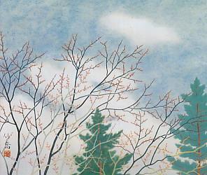 小野竹喬・春の芽