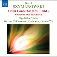 シマノフスキバイオリン協奏曲1番2番