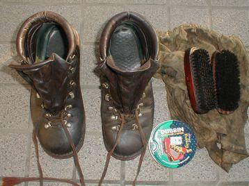 年初の靴磨き