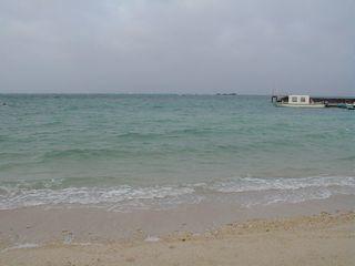 読谷村の浜辺