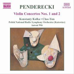 ペンデレツキバイオリン協奏曲一番、二番