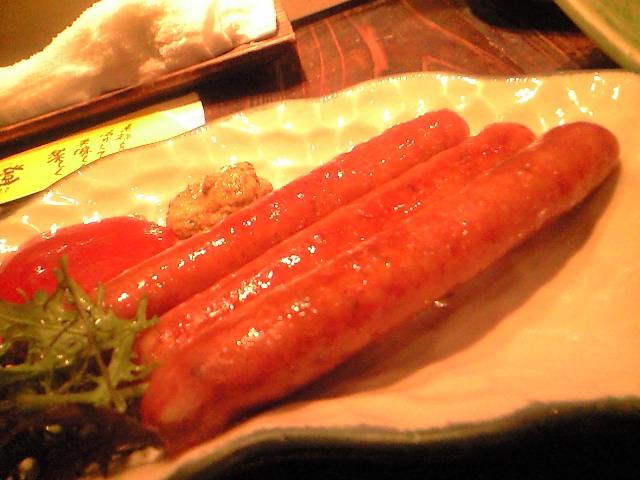 沖田牧場の黒豚の手作りソーセージ