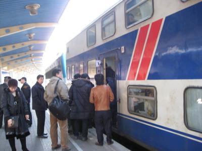 瀋陽へ鉄道で移動