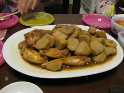 チキンとサトイモ