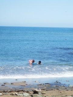 海水浴ー!
