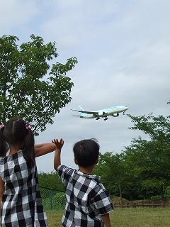 飛行機ー!