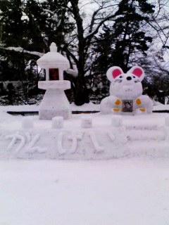 手作りの雪像