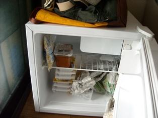 やっと冷蔵庫