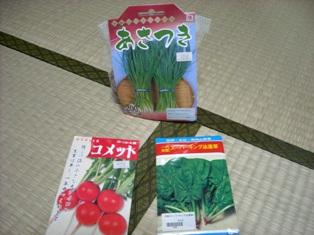 さっそく武空術で 野菜のタネ購入