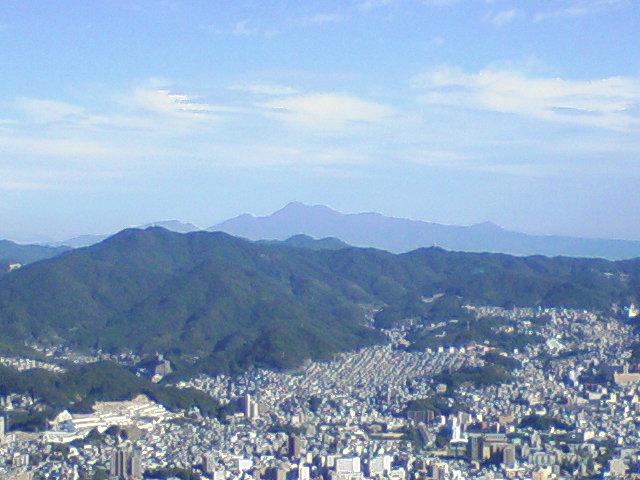 岩屋山から見た平成新山遠望
