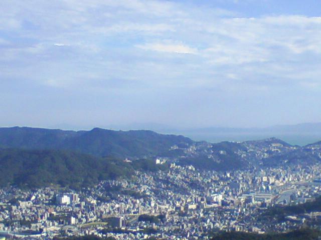 岩屋山から見た天草遠望