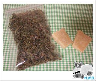 干草と石鹸