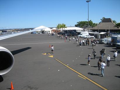 コナ国際空港到着