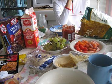タカタ・ストア買出し品での朝食&夕食