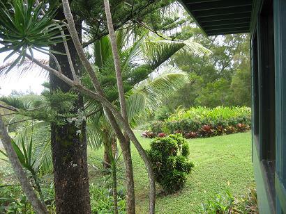 カパアウの宿の庭3