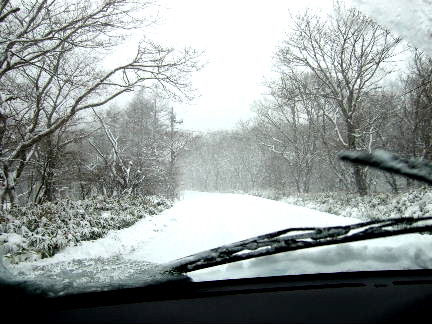 大雪の那須