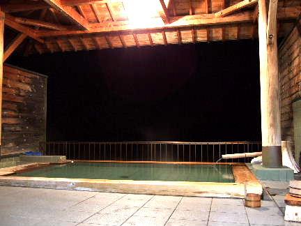 赤石荘夜の露天