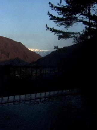 赤石荘朝の露天