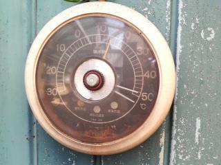 8月17日快晴 温室の温度