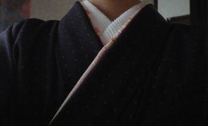 江戸小紋 襟まわり