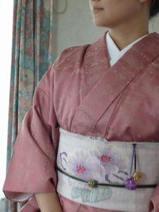 ピンクの単衣
