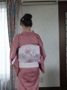 ピンクの単衣‐2
