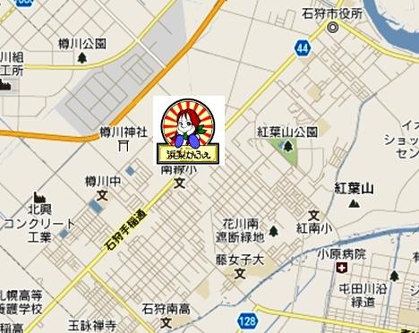 浜梨かふぇ地図2