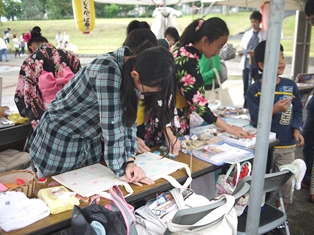 かっぱ祭り 体験風景-1-110731