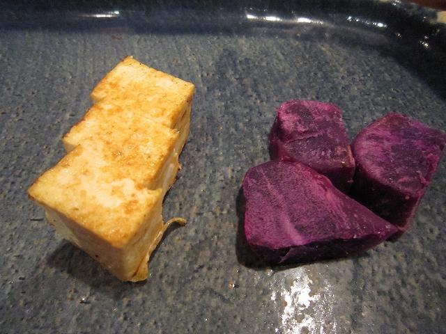 豆腐と紅芋