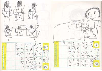 保育園児の絵日記