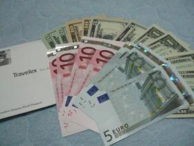 米ドルとユーロ