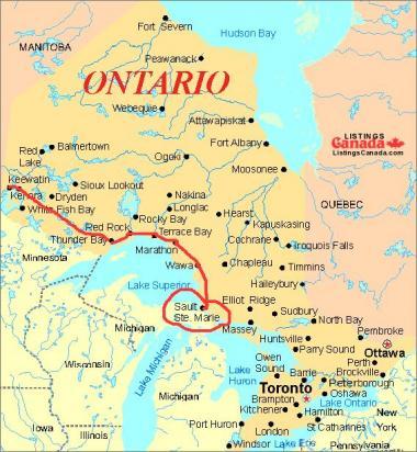 オンタリオ地図