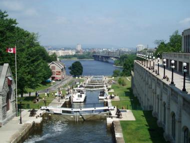 オタワのリドー運河