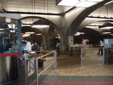 モントリオール地下鉄の改札