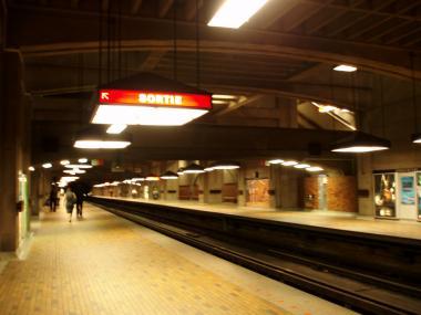 モントリオールのボナベンチャー駅ホーム