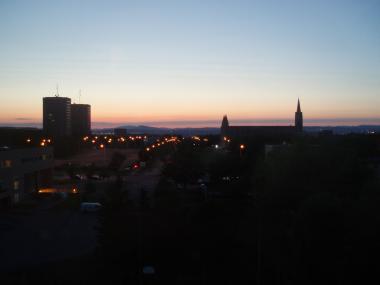 ケベックの部屋からの景色