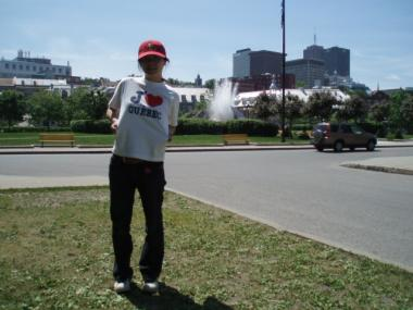ケベックでTシャツ購入記念