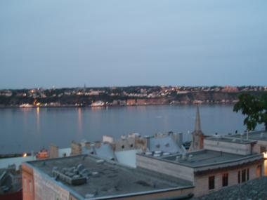 ケベックシティの夕暮れのセントローレンス