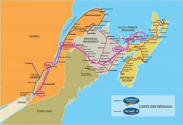 東部バス路線図