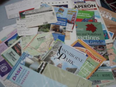 北米旅行の地図やパンフ