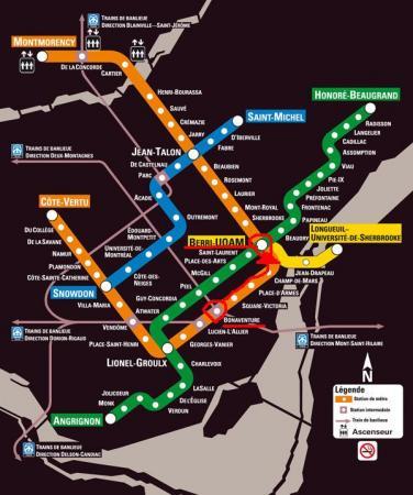 モントリオール地下鉄map