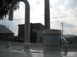 ヒルコとめるくんを設置した灯油タンク