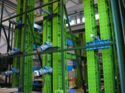 構造強度実験室の内部