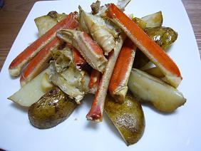 蟹のオーブン焼き