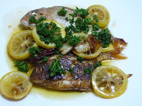 小鯛のオリーブオイル蒸し煮