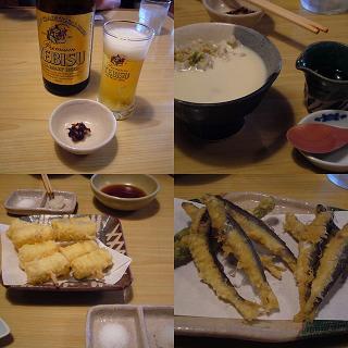 そば豆腐、天ぷら
