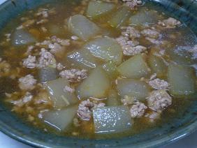 冬瓜の豚ひき肉煮