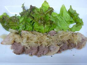 豚バラ肉のポークソテー